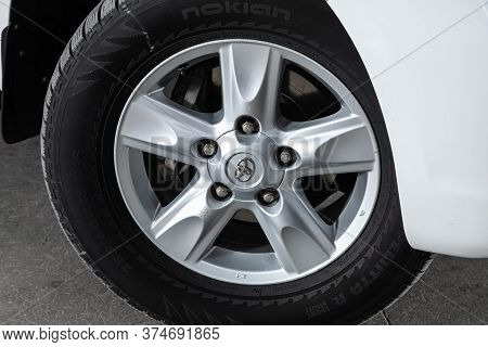 Novosibirsk/ Russia - June 15  2020:  Toyota Land Cruiser 200, Close-up Of The Alloy Wheel. Photogra