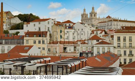 The Hill Of Alfama In The Historic District Of Lisbon - Lisbon, Portugal - October 15, 2019
