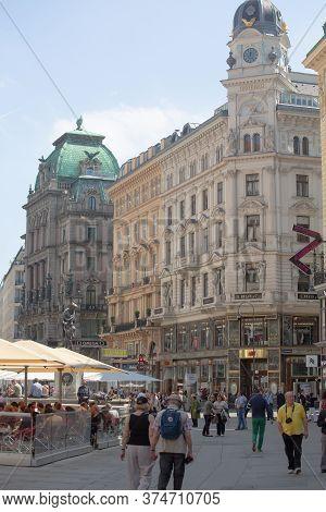 Central City Square. Historical Architecture In Central Square In Vienna. April, 2013. Vienna, Austr