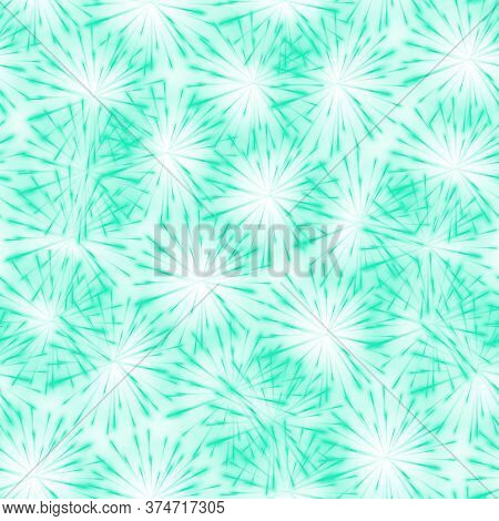 Abstract Springtime Green Flower Seamless Pattern Background, Dandelion. Seamless Patern Floral Back