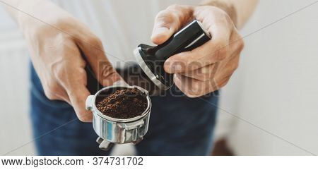 Cooking Coffee With Automatic Coffeemachine