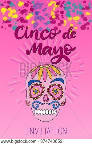Cinco De Mayo Fiesta Festival Vector Illustration. May 5, Holiday In Mexico. Banner, Party Poster De