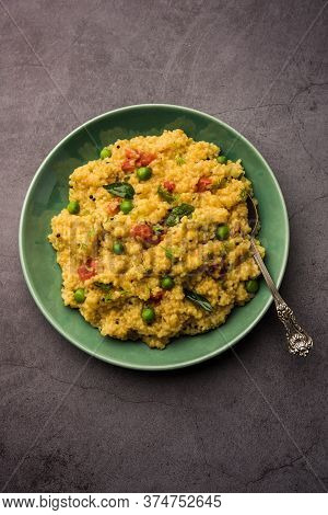 Dalia Khichdi Or Daliya Khichadi Is A Delicious One Pot Meal Made From Broken Wheat And Vegetables,