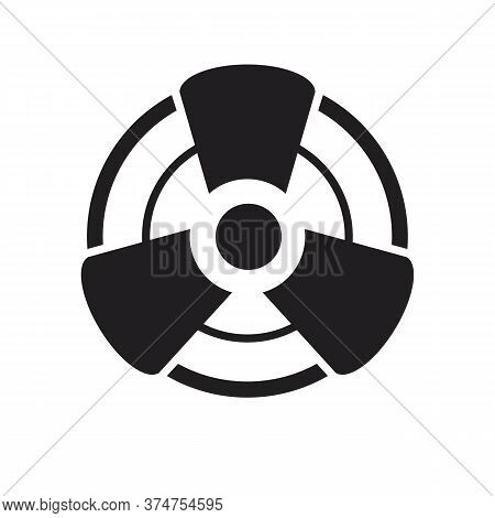 Fan Icon Isolated On White Background , Icon Fan Air Condiconer