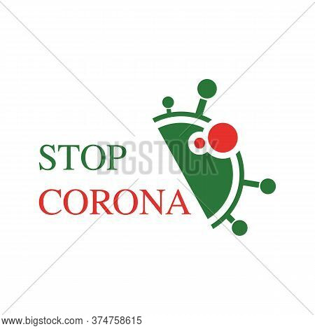Covid-19 Inscription Logo On A White Background. Who Launches New Official Name For Corona Virus Dis