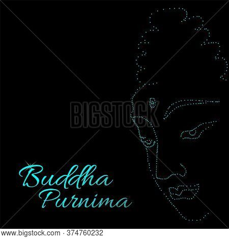 Sacred Fig Or Pipal Tree Leaf Buddha Purnima Or Vesak Day Vector Illustration, Allso Called Guru Pur