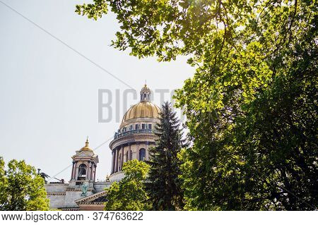 Saint Petersburg. Saint Isaacs Cathedral. Museums Of Petersburg. St. Isaacs Square. Summer In St. Pe