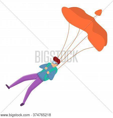 Recreational Parachuting Icon. Cartoon Of Recreational Parachuting Vector Icon For Web Design Isolat