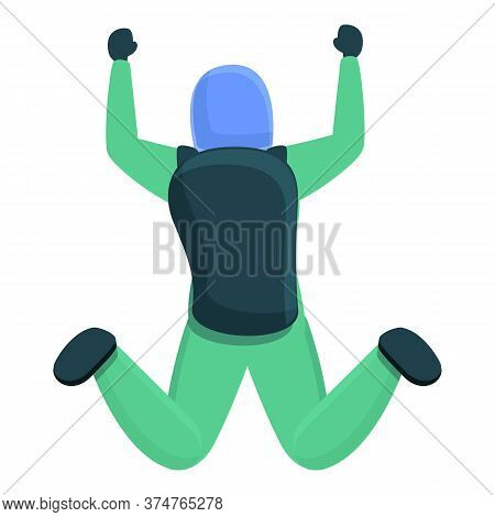 Outdoor Parachuting Icon. Cartoon Of Outdoor Parachuting Vector Icon For Web Design Isolated On Whit