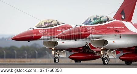 Avalon, Australia - February 28, 2015: Republic Of Singapore Air Force (rsaf) Lockheed Martin F-16cj