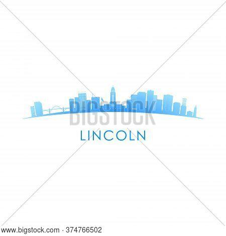 Lincoln Skyline Silhouette. Vector Design Colorful Illustration.