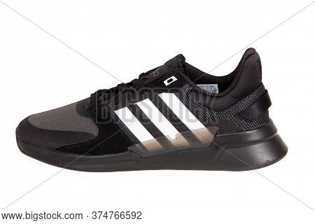 Varna , Bulgaria - February 13, 2020 : Adidas Run Sport Shoe, Isolated. Product Shot. Adidas Is A Ge