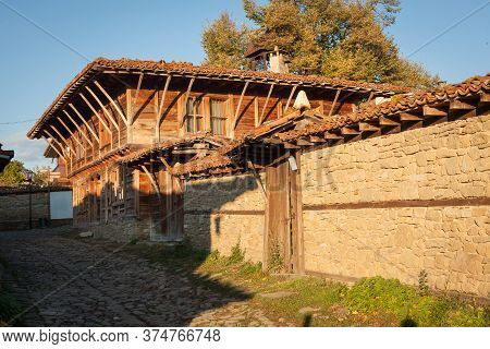 Old Wooden House In Zheravna (jeravna). The Village Is An Architectural Reserve Of Bulgarian Nationa