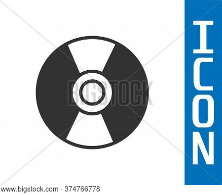Grey Cd Or Dvd Disk Icon Isolated On White Background. Compact Disc Sign. Vector Illustration