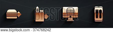 Set Online Ordering Burger Delivery, Online Ordering And Delivery, Online Ordering And Delivery And