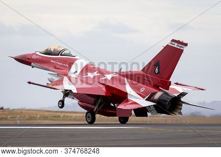 Avalon, Australia - February 27, 2015: Republic Of Singapore Air Force (rsaf) Lockheed Martin F-16cj