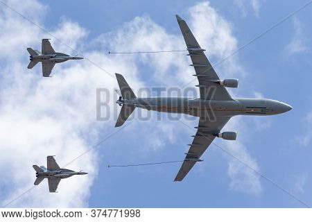 Avalon, Australia - February 25, 2015: Royal Australian Air Force (raaf) Airbus Kc-30a Multi Role Ta