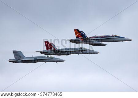 Avalon, Australia - February 23, 2015: Formation Of Three Royal Australian Air Force (raaf) Mcdonnel