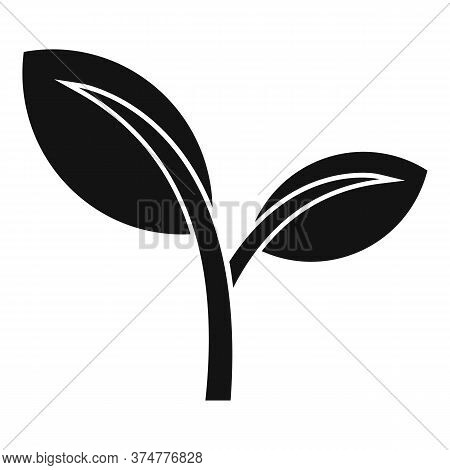 Auyrveda Herb Leaf Icon. Simple Illustration Of Auyrveda Herb Leaf Vector Icon For Web Design Isolat