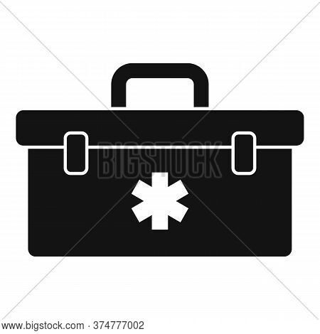 First Aid Kit Box Icon. Simple Illustration Of First Aid Kit Box Vector Icon For Web Design Isolated