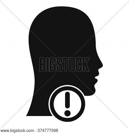 Attention Thyroid System Icon. Simple Illustration Of Attention Thyroid System Vector Icon For Web D
