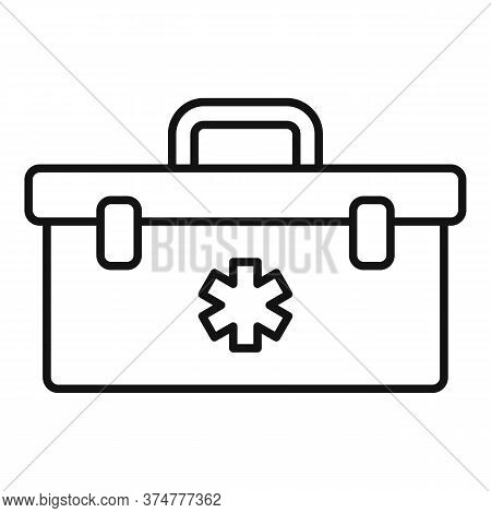 First Aid Kit Box Icon. Outline First Aid Kit Box Vector Icon For Web Design Isolated On White Backg