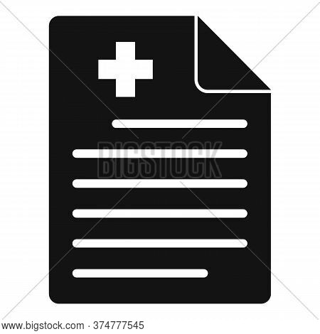 Private Clinic Paper Icon. Simple Illustration Of Private Clinic Paper Vector Icon For Web Design Is