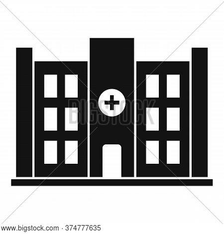 Private Clinic Building Icon. Simple Illustration Of Private Clinic Building Vector Icon For Web Des