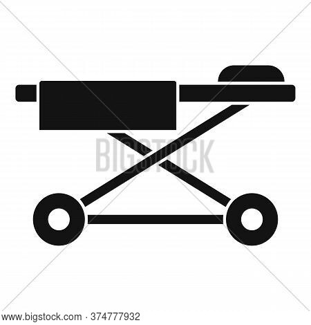 Clinic Cart Bed Icon. Simple Illustration Of Clinic Cart Bed Vector Icon For Web Design Isolated On