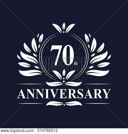 70 Years Anniversary Logo, Luxurious 70th Anniversary Design Celebration.