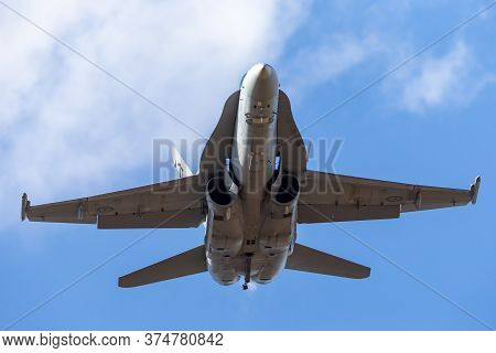 Avalon, Australia - February 28, 2015: Royal Australian Air Force (raaf) Mcdonnell Douglas F/a-18a H