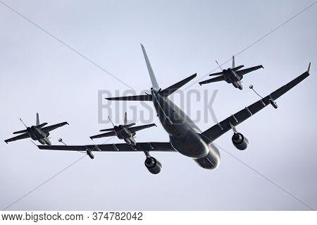 Avalon, Australia - February 28, 2015: Royal Australian Air Force (raaf) Airbus Kc-30a Multi Role Ta