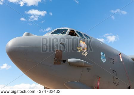 Avalon, Australia - February 27, 2015: Nose Of United States Air Force (usaf) Boeing B-52h Stratofor
