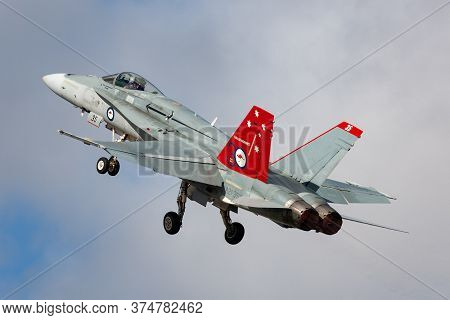 Avalon, Australia - February 24, 2015: Royal Australian Air Force (raaf) Mcdonnell Douglas F/a-18a H