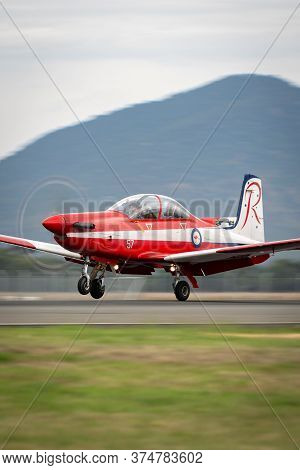 Avalon, Australia - February 28, 2015: Pilatus Pc-9a Trainer Aircraft A23-057 From The Royal Austral