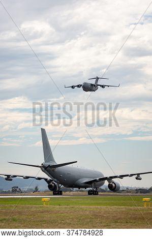 Avalon, Australia - February 27, 2015: Royal Australian Air Force (raaf) Airbus Kc-30a Multi Role Ta