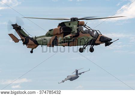 Avalon, Australia - February 27, 2015: Australian Army Eurocopter Tiger Arh Armed Reconnaissance Hel