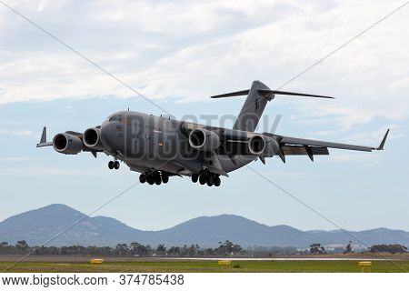 Avalon, Australia - February 27, 2015: Royal Australian Air Force (raaf) Boeing C-17a Globemaster Ii