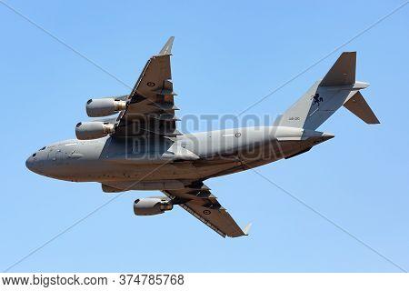 Avalon, Australia - February 25, 2015: Royal Australian Air Force (raaf) Boeing C-17a Globemaster Ii