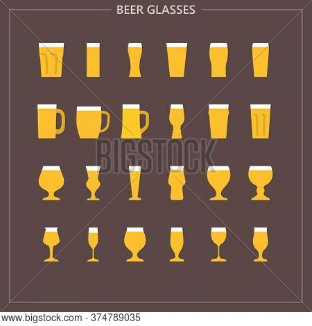 24 Beer Glasses Icons For Instagram Profile, Web, Mobile App, Presentations And Other