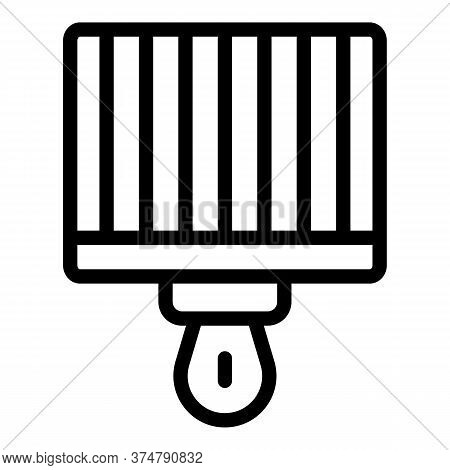 Brazier Grill Icon. Outline Brazier Grill Vector Icon For Web Design Isolated On White Background