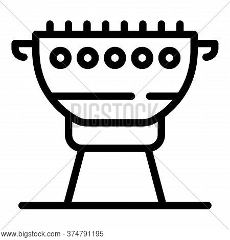 Bbq Tool Icon. Outline Bbq Tool Vector Icon For Web Design Isolated On White Background