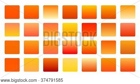 Orange Shades Gradients Big Set Background Design