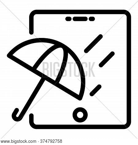 Waterproof Glass Icon. Outline Waterproof Glass Vector Icon For Web Design Isolated On White Backgro