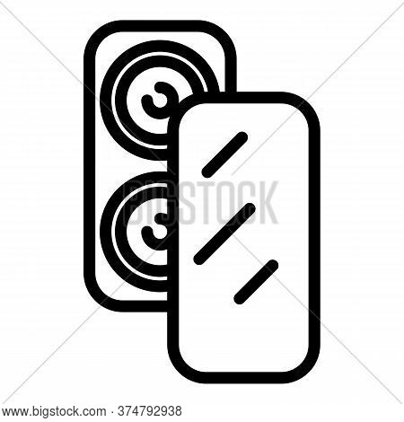 Screen Protector Icon. Outline Screen Protector Vector Icon For Web Design Isolated On White Backgro
