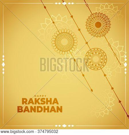 Traditional Raksha Bandhan Festival Card Design Background
