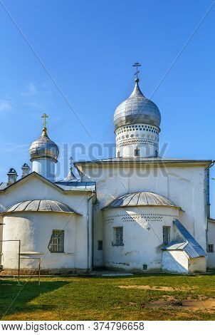 The Church Of St. Varlaam Of Khutyn Was Build In1495 In Pskov, Russia