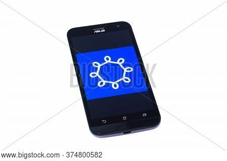Kouvola, Finland - 23 January 2020: Hsl App Logo On The Screen Of Smartphone Asus