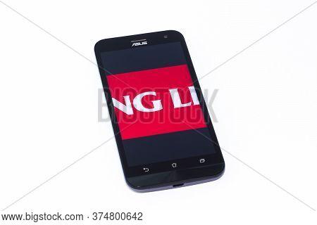 Kouvola, Finland - 23 January 2020: Viking Line App Logo On The Screen Of Smartphone Asus