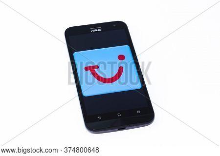 Kouvola, Finland - 23 January 2020: Tui App Logo On The Screen Of Smartphone Asus